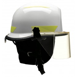Bullard - URXWHR330 - White Fire/Rescue Helmet, Shell Material: Thermoplastic, 4-Point Sure-Lock Ratchet Suspension, Fits