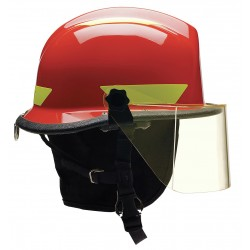 Bullard - URXRDR330 - Red Fire/Rescue Helmet, Shell Material: Thermoplastic, 4-Point Sure-Lock Ratchet Suspension, Fits H