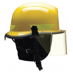 Bullard - URXYLR330 - Yellow Fire/Rescue Helmet, Shell Material: Thermoplastic, 4-Point Sure-Lock Ratchet Suspension, Fit