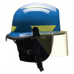 Bullard - URXBLR330 - Blue Fire/Rescue Helmet, Shell Material: Thermoplastic, 4-Point Sure-Lock Ratchet Suspension, Fits