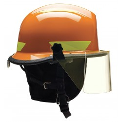 Bullard - URXORR330 - Orange Fire/Rescue Helmet, Shell Material: Thermoplastic, 4-Point Sure-Lock Ratchet Suspension, Fit