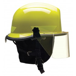 Bullard - URXLYR330 - Lime-Yellow Fire/Rescue Helmet, Shell Material: Thermoplastic, 4-Point Sure-Lock Ratchet Suspension