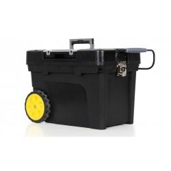 Stanley / Black & Decker - 033026R - Plastic Rolling Tool Box, 12-1/2H x 20-3/8W x 11-3/4D, 3011 cu. in., Black