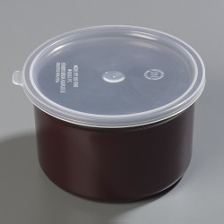 Carlisle FoodService - 034301 - 1.5 qt. Polypropylene Poly-Tuf Crock w/Lid; PK6