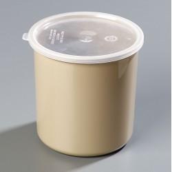 Carlisle FoodService - 030206 - 2.7 qt. Polypropylene Classic Crock w/Lid; PK6