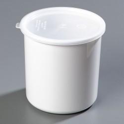 Carlisle FoodService - 030202 - 2.7 qt. Polypropylene Classic Crock w/Lid; PK6