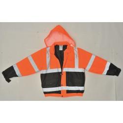 Utility Pro Wear - UHV562O-5XL - Bomber Jacket, Insulated, Orange/Black, 5XL