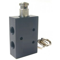 Pneumadyne - AM45-1/8-SR - 1/8 Manual Air Control Valve with 5-Way, 2-Position Air Valve Type