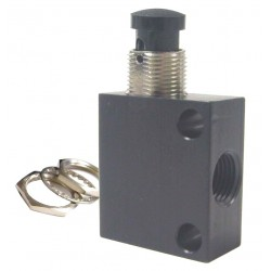 Pneumadyne - C040105 - 1/8 Manual Air Control Valve with 3-Way, 2-Position Air Valve Type