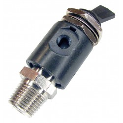 Pneumadyne - H0-30-1 - 2.16L Aluminum / Brass 3-Way, NPT Toggle Valve with Detented Toggle Handle