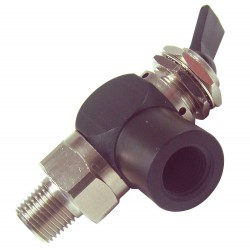 Pneumadyne - H11-30-14 - 2.38L Aluminum / Brass 3-Way, NPT x FNPT Toggle Valve with Detented Toggle Handle