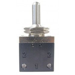 Pneumadyne - C042503 - 3.03L Aluminum / Brass 3-Way, 3 Position, FNPT Toggle Valve with Spring Return Metal Toggle Handle