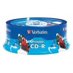 Verbatim / Smartdisk - VER96189 - CD-R Disc, 700 MB Capacity, 52x Speed