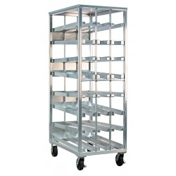 New Age - 97294CK - 42 x 81-1/8 Mobile FIFO Can Rack