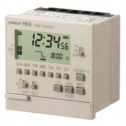 Omron - H5S-WB2 - Electronic Timer, 15 Amps, 120 to 240VAC Voltage, Operation Mode: 7 Days, Number of Channels: 2