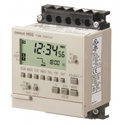 Omron - H5S-WFB2 - Electronic Timer, 15 Amps, 120 to 240VAC Voltage, Operation Mode: 7 Days, Number of Channels: 2