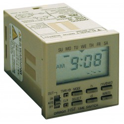 Omron - H5F-B - Electronic Timer, 15 Amps, 120 to 240VAC Voltage, Operation Mode: 7 Days, Number of Channels: 1