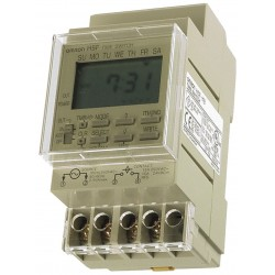 Omron - H5F-KB - Electronic Timer, 15 Amps, 120 to 240VAC Voltage, Operation Mode: 7 Days, Number of Channels: 1