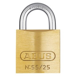 ABUS - 55/25 KD - Different-Keyed Padlock, Open Shackle Type, 7/16 Shackle Height, Brass