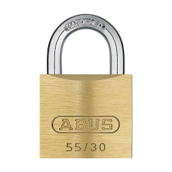 ABUS - 55/30 KD - Different-Keyed Padlock, Open Shackle Type, 9/16 Shackle Height, Brass
