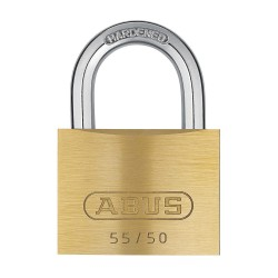 ABUS - 55/50 KD - Different-Keyed Padlock, Open Shackle Type, 15/16 Shackle Height, Brass