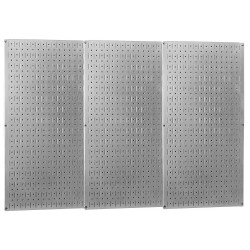 Wall Control - 35-P-3248GV - 32 x 48 20 ga. Steel Pegboard with 600 lb. Load Rating, Metallic