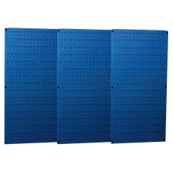 Wall Control - 35-P-3248BU - 32 x 48 20 ga. Steel Pegboard with 600 lb. Load Rating, Blue