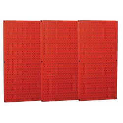 Wall Control - 35-P-3248RD - 32 x 48 20 ga. Steel Pegboard with 600 lb. Load Rating, Red