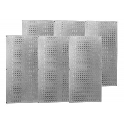 Wall Control - 35-P-3296GV - 32 x 96 20 ga. Steel Pegboard with 1200 lb. Load Rating, Metallic