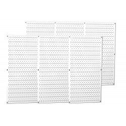 Wall Control - 35-P-3296WH - 32 x 96 20 ga. Steel Pegboard with 1200 lb. Load Rating, White