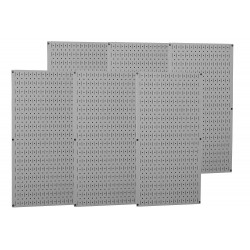 Wall Control - 35-P-3296GY - 32 x 96 20 ga. Steel Pegboard with 1200 lb. Load Rating, Gray