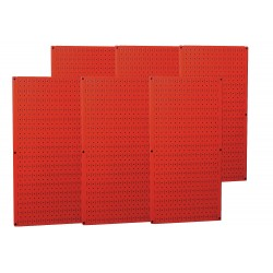 Wall Control - 35-P-3296RD - 32 x 96 20 ga. Steel Pegboard with 1200 lb. Load Rating, Red