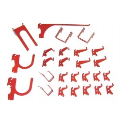 Wall Control - 35-K-DLXRD - Steel Slotted Toolboard Hook Kit, Red