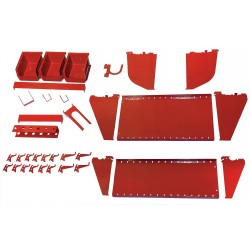 Wall Control - 35-K-WRKRD - Steel Slotted Toolboard Accessory Kit, Red