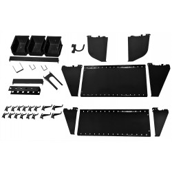 Wall Control - 35-K-WRKBK - Steel Slotted Toolboard Accessory Kit, Black