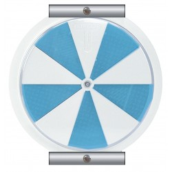 Accuform Signs - FRW975 - Accuform Signs 6 White And Blue Aluminum Ice Alert Indicator Sign With Round Corner, ( Each )