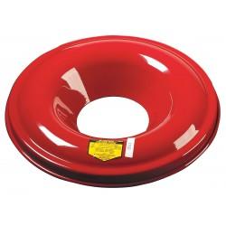 Justrite - 26312 - 12-15 Gal. Heavy Duty Steel Head Cover Red