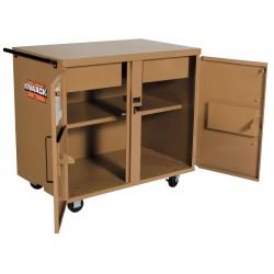 Knaack - 40 - Mobile Cabinet Workbench, Steel, 25 Depth, 37-1/2 Height, 40-3/4 Width