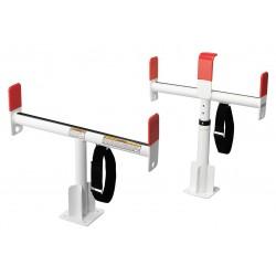Knaack - 1425-3 - Service Body Rack, White, Alum, 24-1/2 In