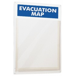 Brady - 45381 - Evacuation Map Holder, 15 x 11 In.