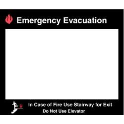 Brady - 102857 - Fire Stairways Sign, 15 x 17 In.