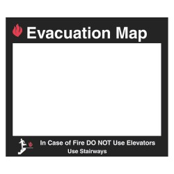 Brady - 102852 - Brady 15 X 17 1/2 Black/red/transparent Acrylic Sign Holder Evacuation Map In Case Of Fire Do Not Use Elevators Use Stairways, ( Each )