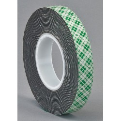 3M - 4052 - 3M 14557 Double Coated Urethane Foam Tape 4052 Black, 1 in x 72 yd 1/32 in, 9 per case Bulk