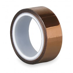 Tapecase - 15C592 - Amber Polyimide Film Tape, 1 Width, 5 yd. Length, 2.50 mil Thickness