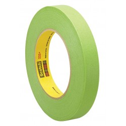3M - 233+ - Masking Tape, 60 yd. x 1/4, Green, 6.70 mil