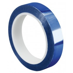 Tapecase - 15D502 - Blue Polyester Metalized Film Tape, 3 Width, 72 yd. Length, 2.00 mil Thickness