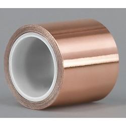 Tapecase - 15D565 - Copper Foil Tape, Acrylic, 3.50 mil Thick, 3/4 X 6 yd., 1 EA