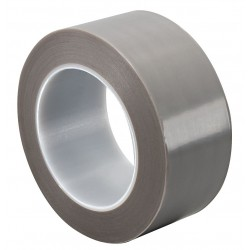 Tapecase - 15D653 - Gray Skived PTFE Film Tape, 2 Width, 36 yd. Length, 4.50 mil Thickness