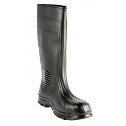Other - 15D866 - 15H Men's Knee Boots, Steel Toe Type, PVC Upper Material, Black, Size 8