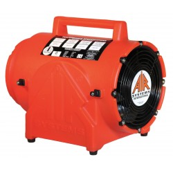 Air Systems - CVF-8DC - Air Systems 8 848 cfm 1/4 hp 12 VDC 19 Amps Polyethylene Contractor Grade Ventilation Fan ( Duct Canister Sold Separately), ( Each )